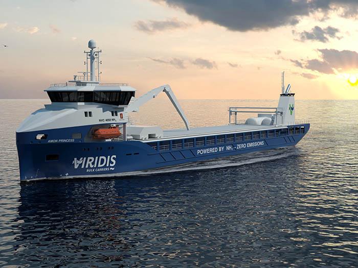 Viridis ammonia fueled ship