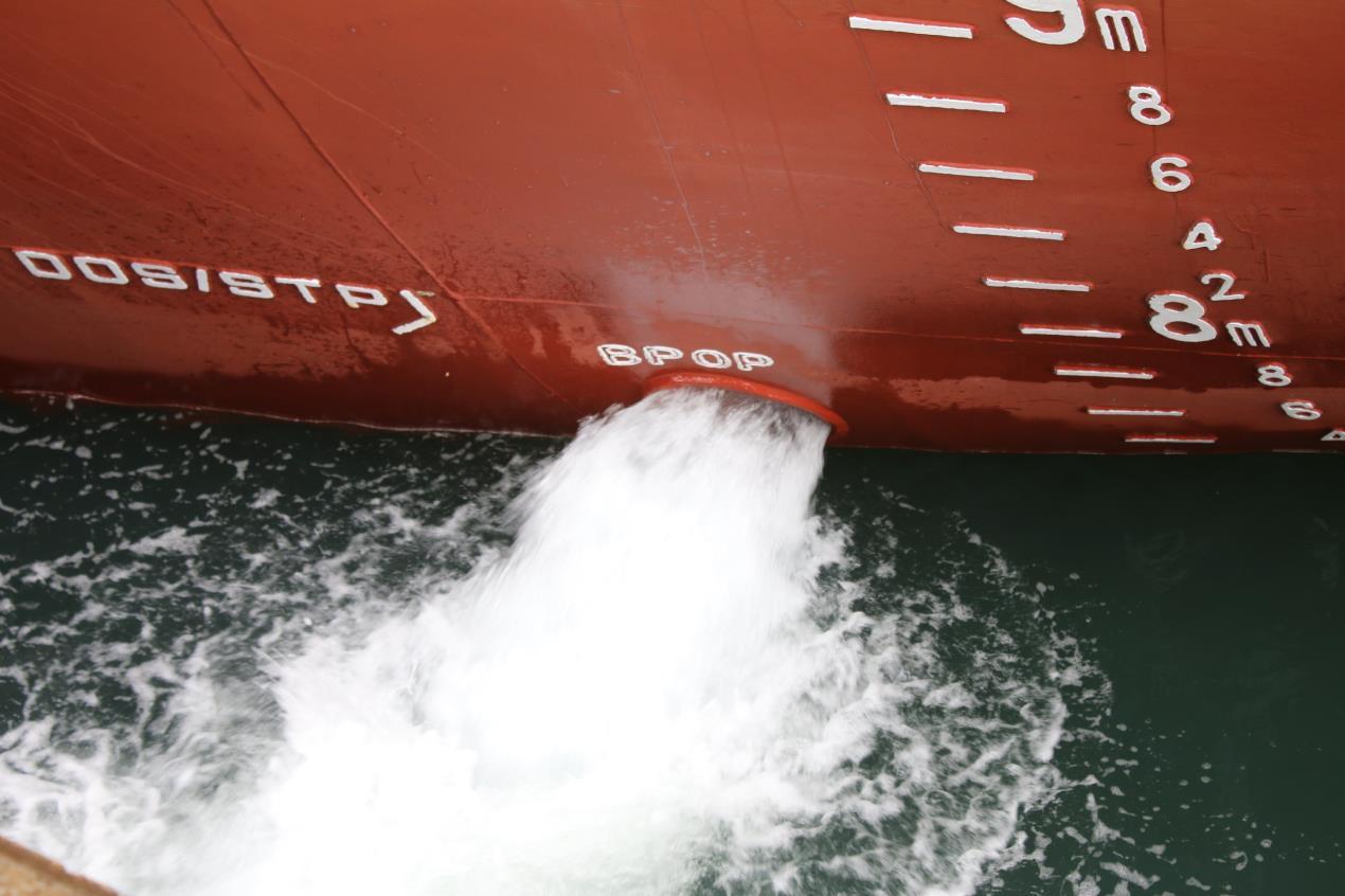 Ballast water being discharged