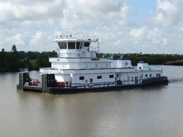 towboat on water