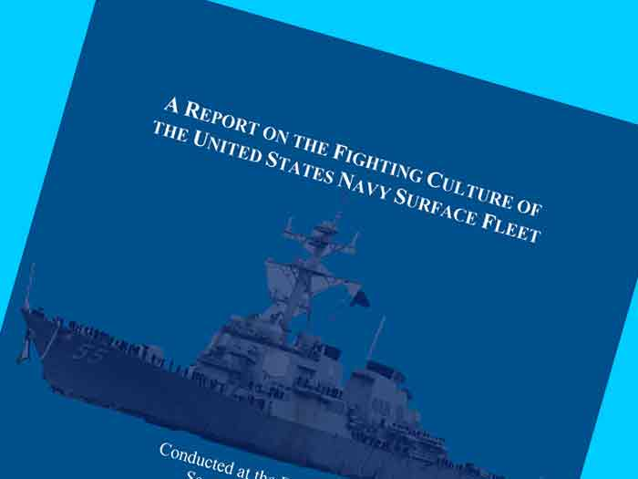 Front cover of A Report on the Fighting Culture of the United States Navy's Surface Fleet,