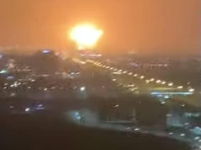 Fireball over Jebel Ali