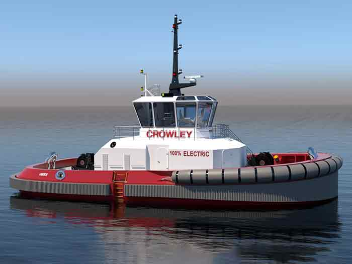 Rendering of fully electric tug