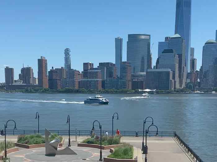 View of NY Harbor from hotel