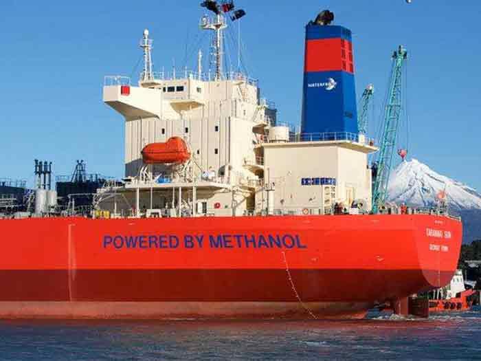methanol fueled tanker