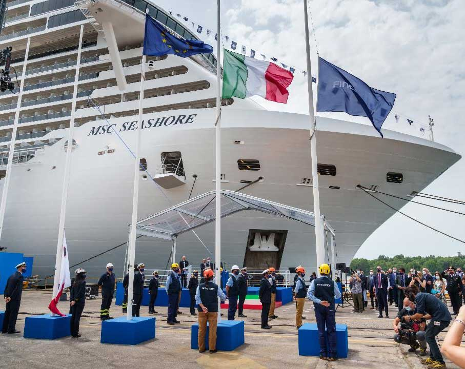 Green hydrogen initiative was announced the MSC Cruises took delivery from Fincantieri of its new flagship,