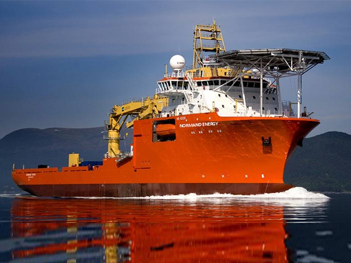 Normand Energy is a large construction vessel equipped with a 250 tons active heave compensated crane