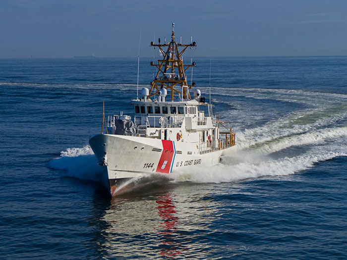 Fast Response Cutter USCGC Glen Harris during a shakedown cruise in the Gulf of Mexico earlier this year.