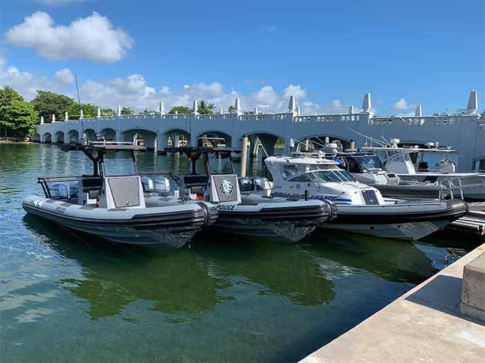 Three patrol craft