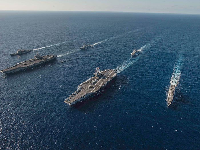 Navy ships supported by contract include carriers and surface vessels