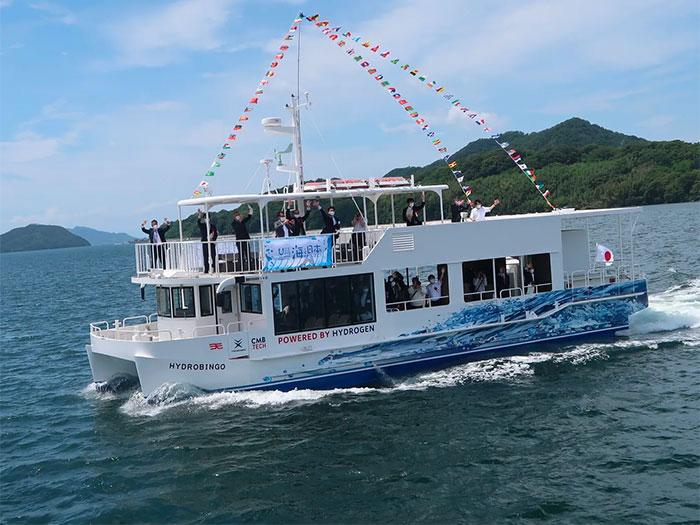 Hydrogen fueled ferry under way