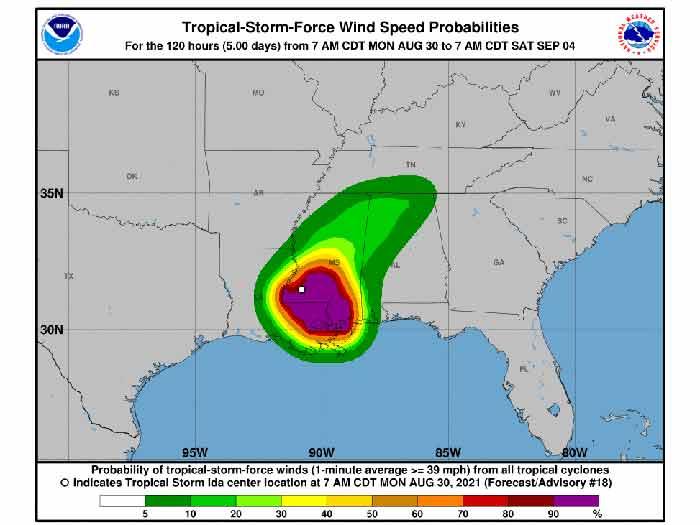 NOAA Map shows hurricane impact