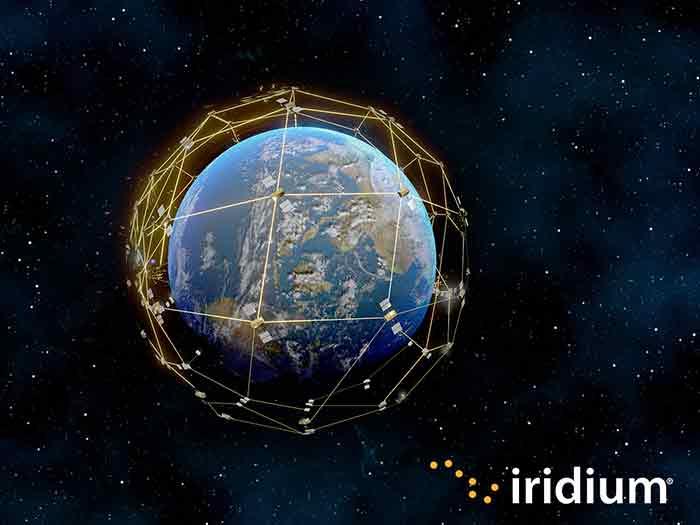 Iridium satellite comstellation