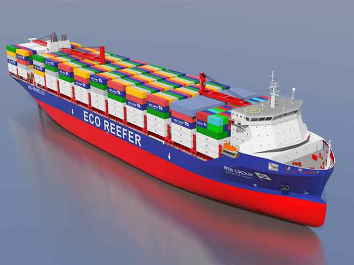 Containership puts deckhouse up frony