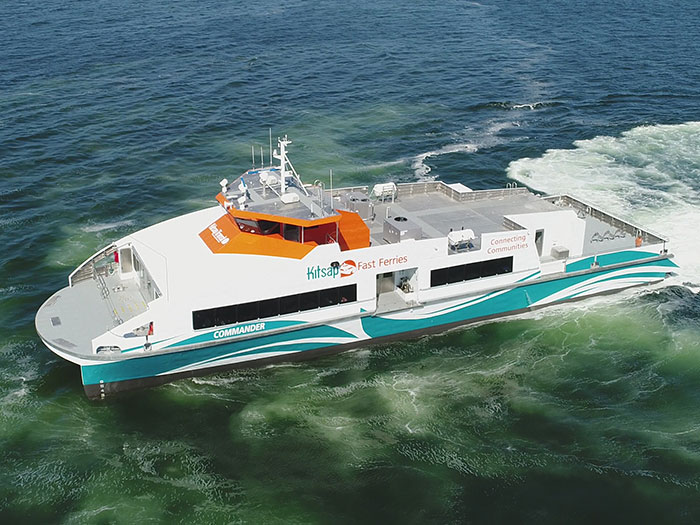 Fast ferry delivered by Nichols Bbrothers