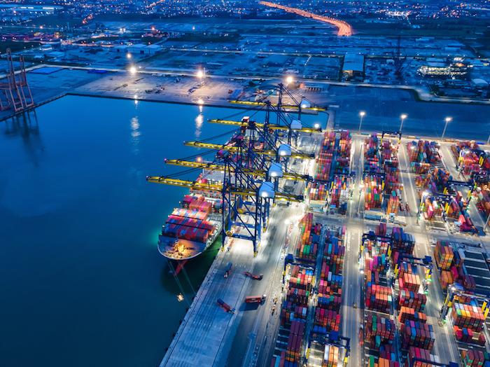 Maritime port and terminal