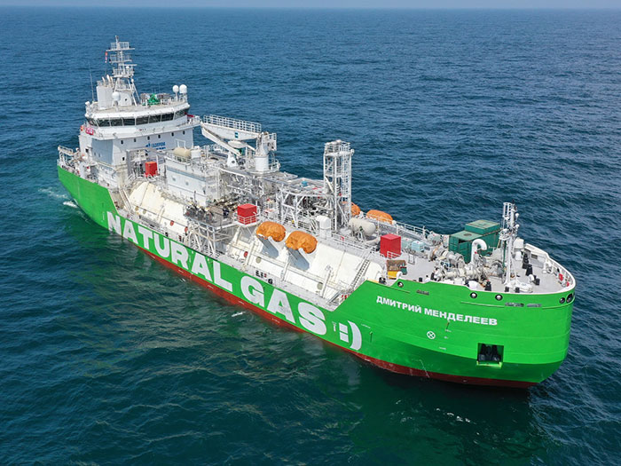 Russia's first LNG bunkering vessel