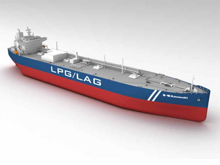 Ship is designed for simultaneous carriage of LPG and Liquefied Ammonia Gas