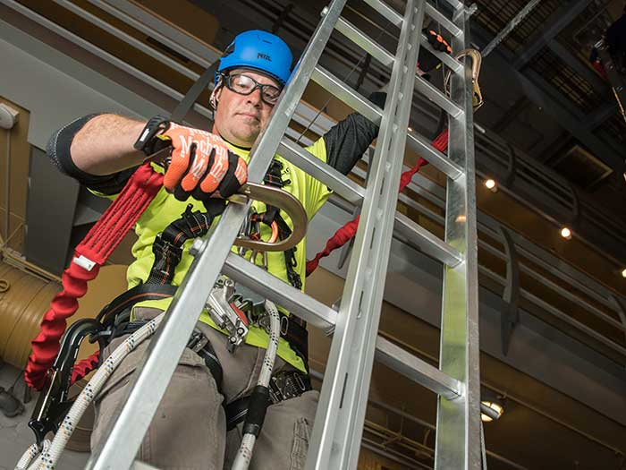 Offshore wind training modules incude training on working at heights