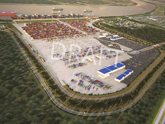 Concept drawing of new container terminal