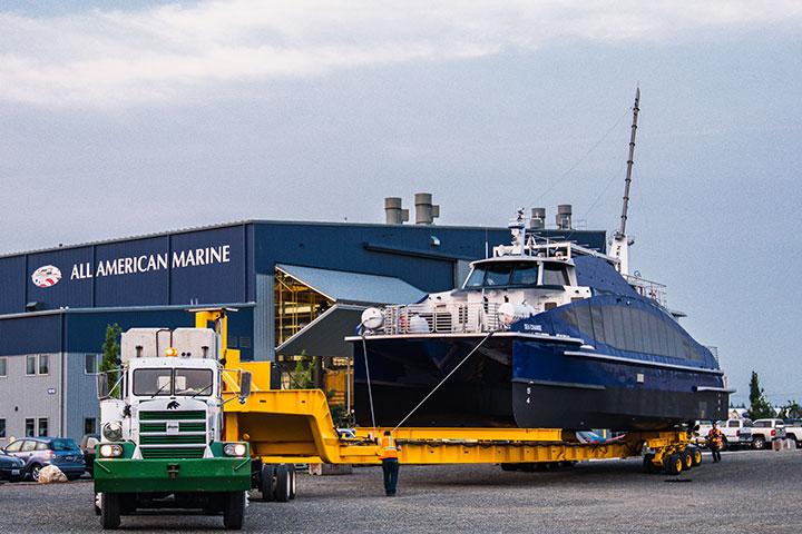 Hydrogen fuel cell ferry on truck