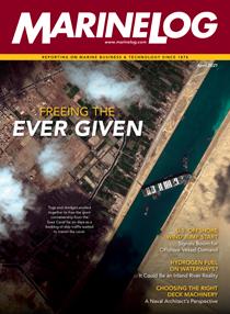 April issue of Marine Log magazine
