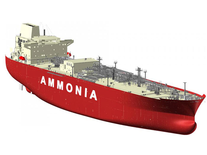 Red hulled ammonia carrier