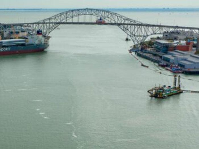 Cargo docks at Port of Corpus Christi