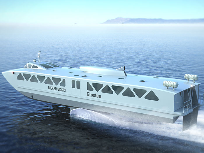 Foil assisted ferry