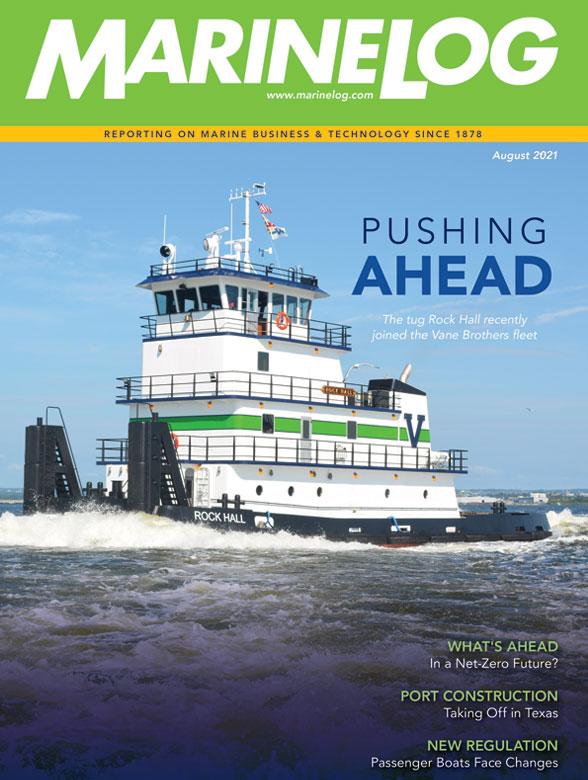 August 2021 Marine Log magazine