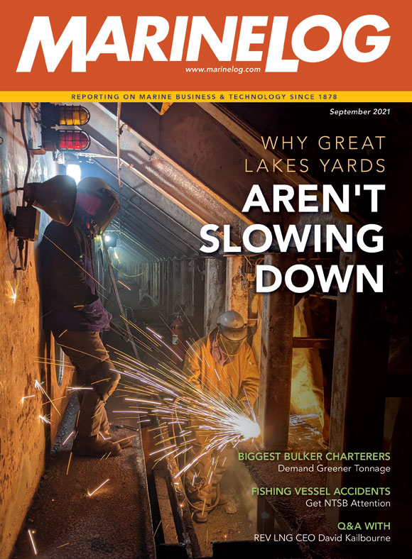 September 2021 Marine Log magazine