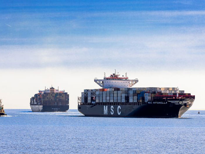 MSC containerships
