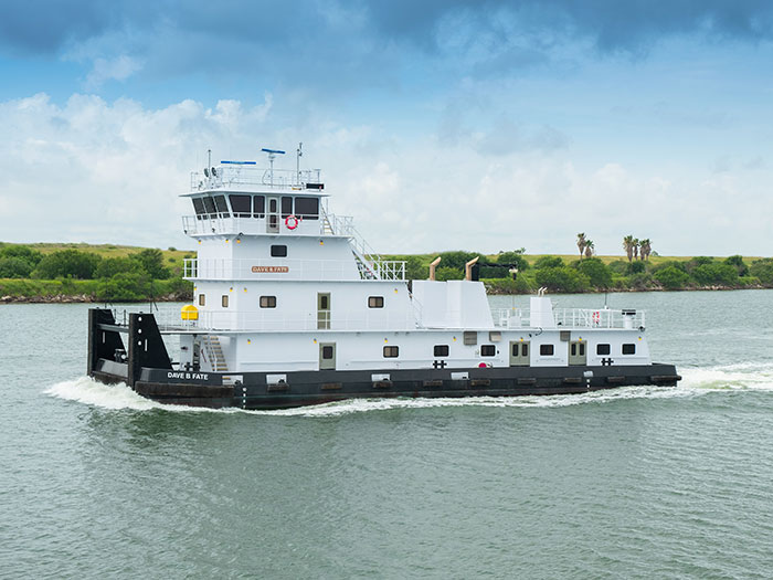 Towboat on river