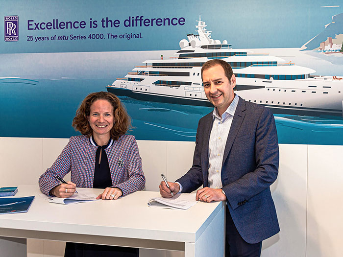 Rolls-Royce and Sea Machomes signed agreement at Monaco Yacht Show
