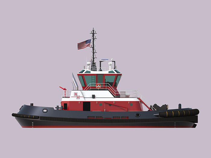 Tugboat in Bay Houston livery
