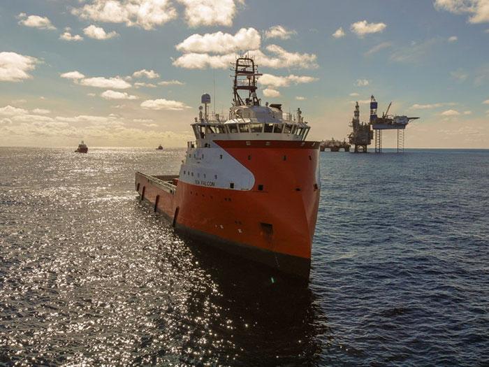 Solstad offshore service vessel
