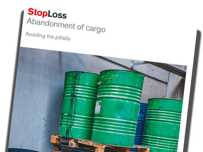 Cover of Abandonment of Cargo publication