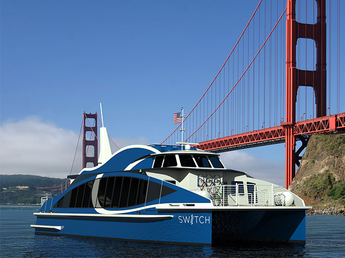 Hydrogen fuel cell powered ferry