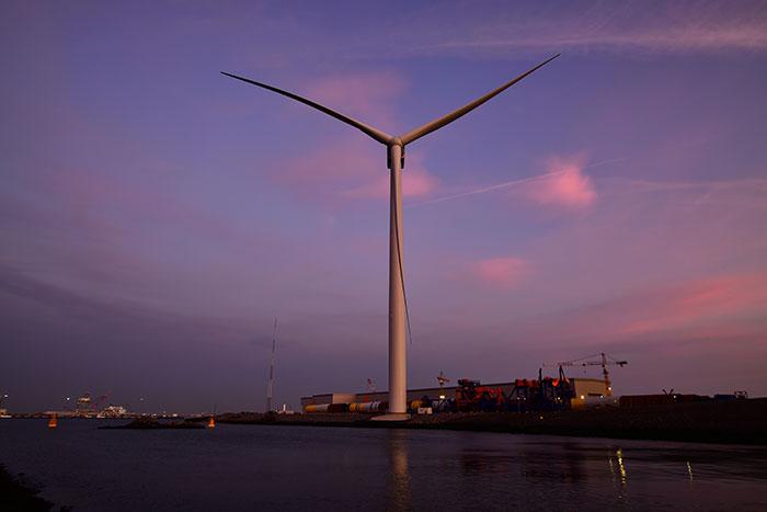 Giant Haliade-X wind turbine