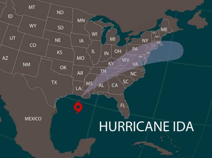 Hurricane Ida maritime