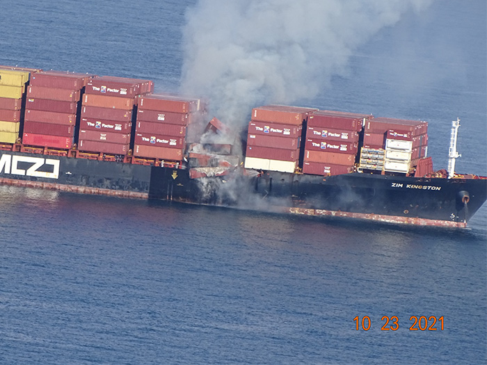 smoldering containers