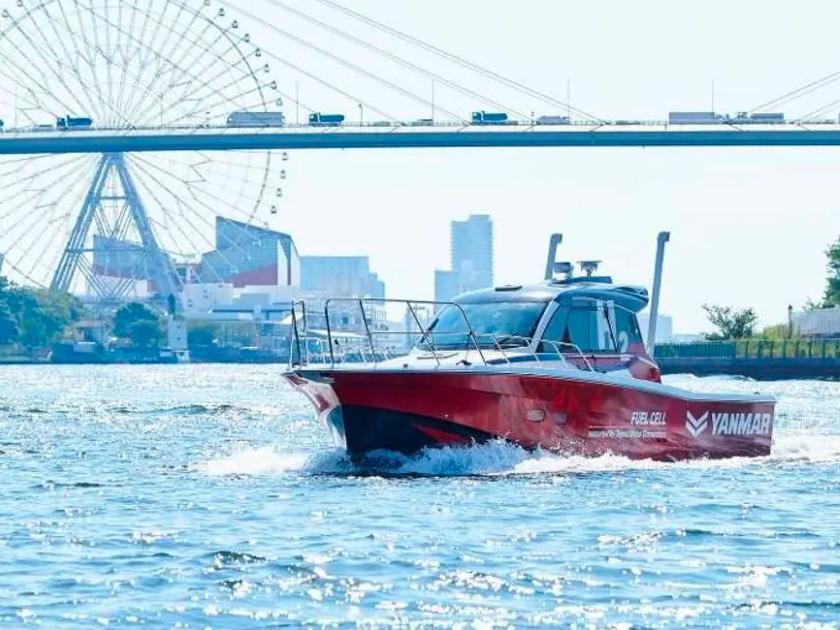 hydrogen fueled test boat