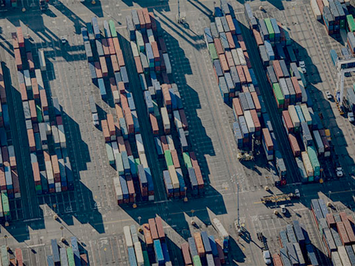 Containers at terminal