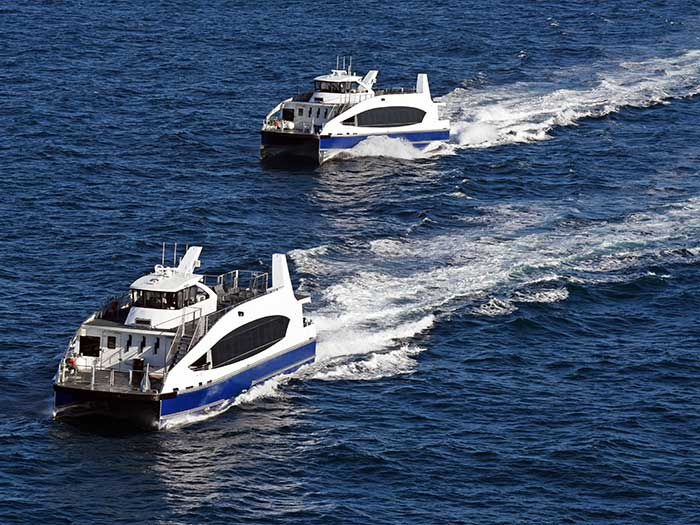 Two NYC Ferry vessels