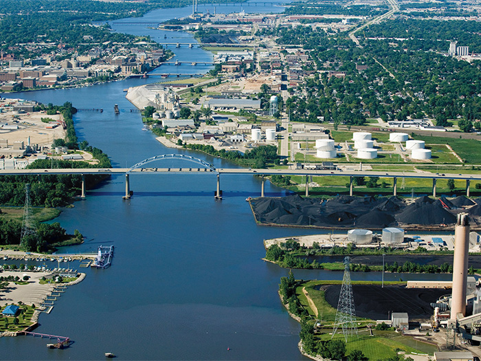 Aerial view of Port of Green Bay